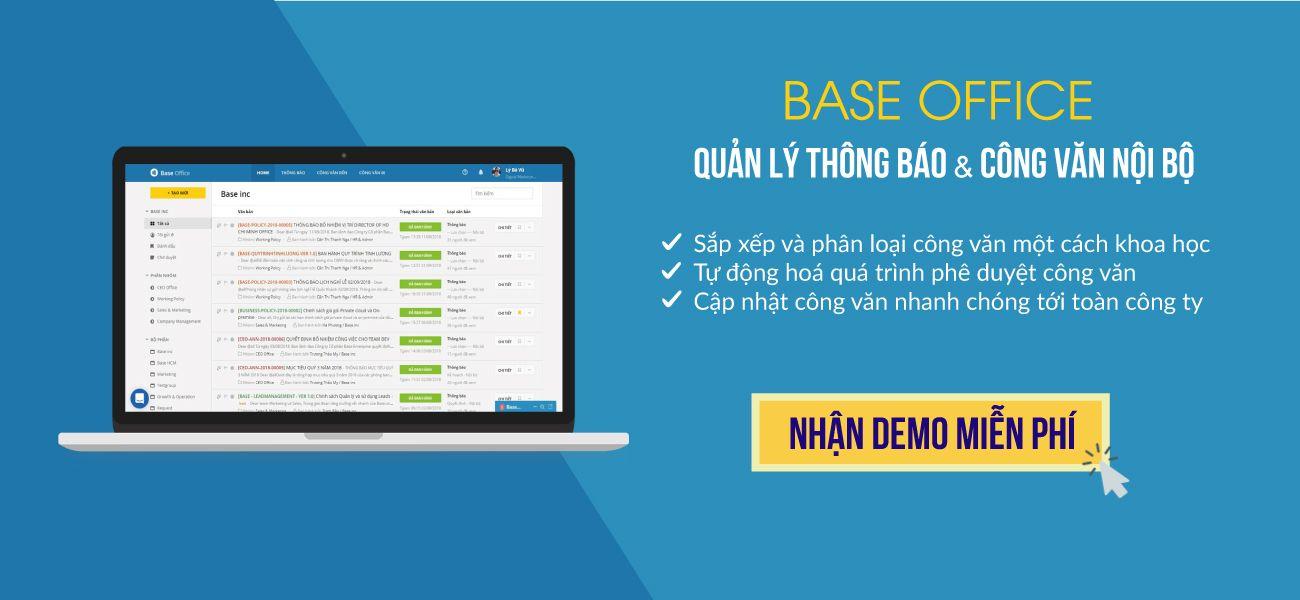 Phần mềm quản lý công văn Base Office giúp hiện đại hoá quy trình xử lý công văn như thế nào?